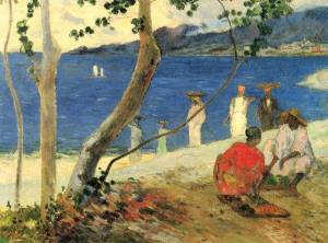 Bord de Mer II (Sea Side II) by Gauguin in 1887, private collection.