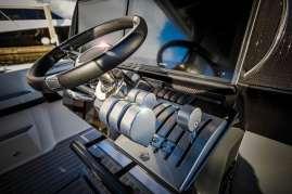 The carbon fiber console serves as boat's control center. Photo: JLambertPhotos.com