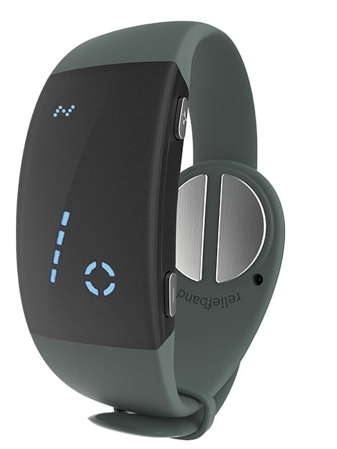 An image of the newest reliefband, Reliefband 2.0