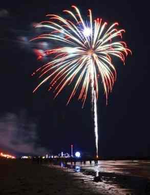 Galveston firework show