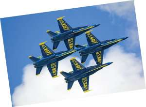 The Famous Blue Angels get high in Pensacola, FL.