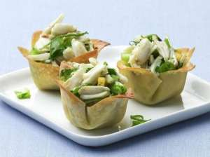 An image of Crab salad cups