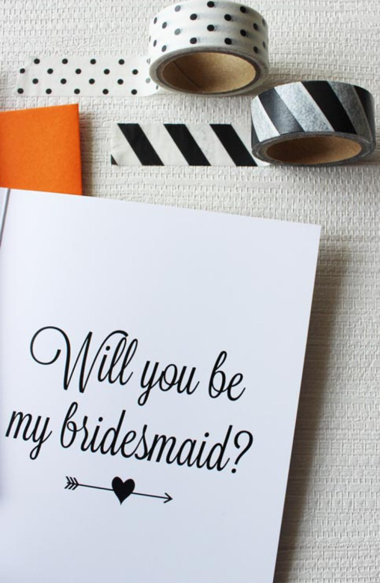 how to ask will you be my bridesmaid