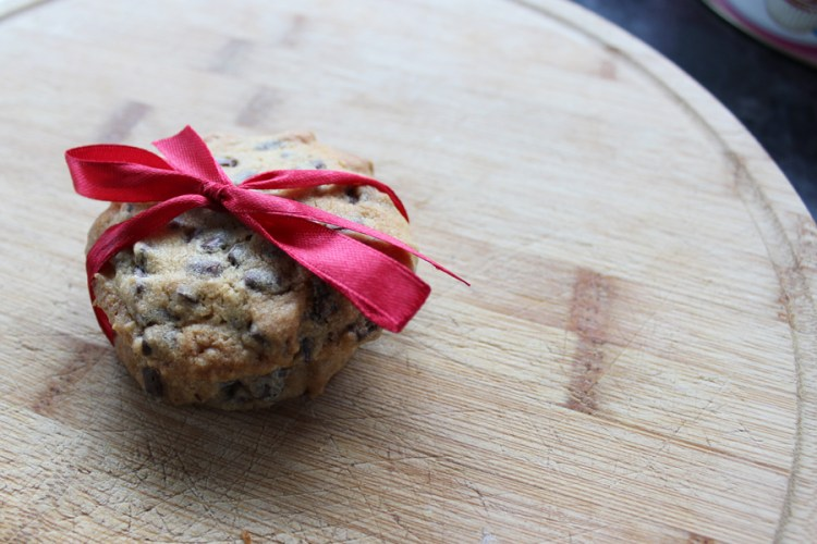 chocolate chip cookie wedding favour
