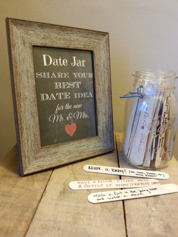 date jar at wedding reception