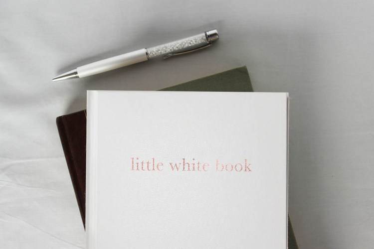 little white book wedding planner and organiser diary