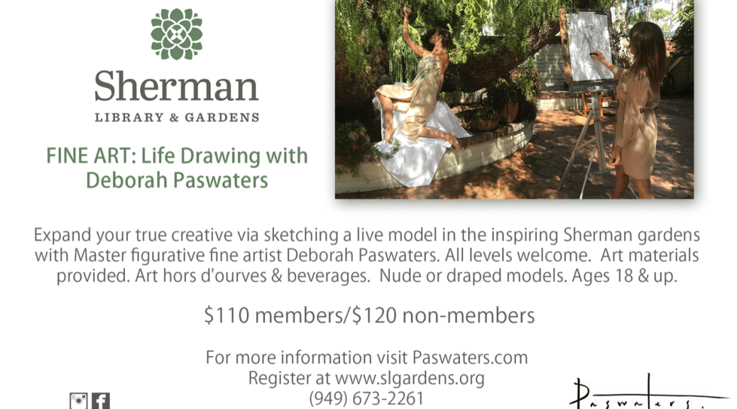 Sherman Library & Gardens Life Drawing Workshop