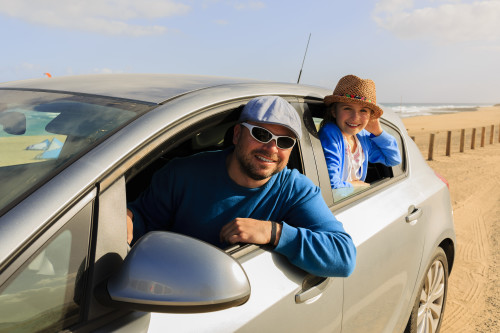 Travel, family on summer vacation
