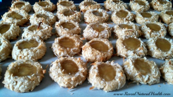 Whole wheat thumbprint cookies