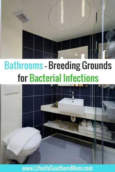 The fact that the bathroom isn't considered the cleanest room by nature doesn't mean that it should be neglected; on the contrary, maintaining proper bathroom and personal hygiene is the best way to make sure to avoid succumbing to these bacteria-caused ailments