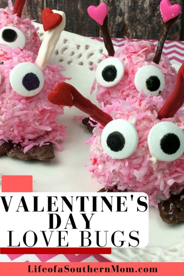This Valentine's Day Love Bugs recipe takes the deliciousness of a cake ball to the next level by dipping them into chocolate and coconut for a sweet treat that will steal hearts!