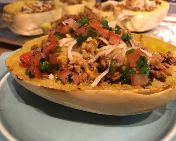 Spaghetti Squash Taco Boats