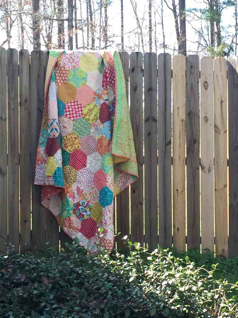 Quilt Reveal – hexagon quilt #3