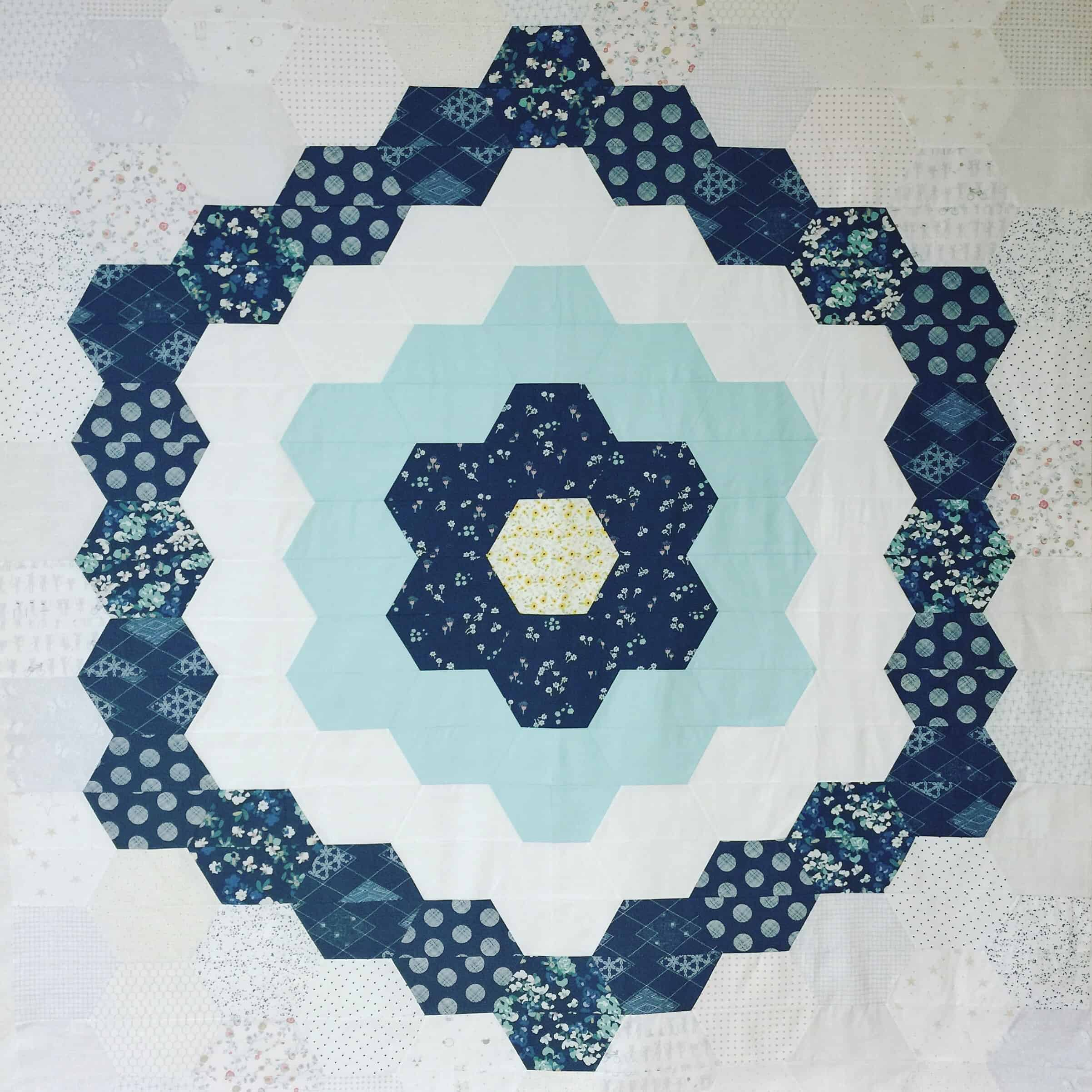 The Nora Hexagon Quilt Pattern Release Quilt Reveal