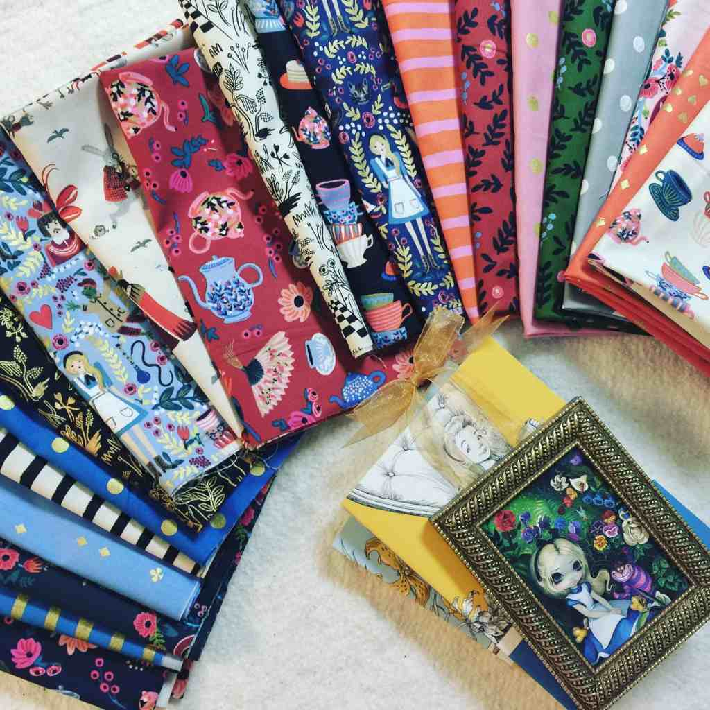 Monday is all about fabric #1 – Wonderland by Rifle Paper Company
