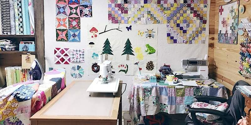 Wandering quilt – Lara's Field Study quilt + an update on the honey bee quilt
