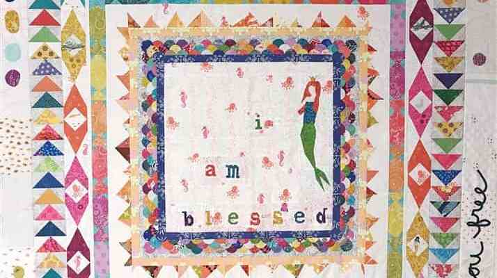 Wandering Quilt – Nicole's – I.am.blessed – completed