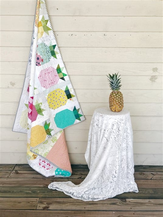 Emerge Circle Pineapple Parade Quilt Quilt Reveal A
