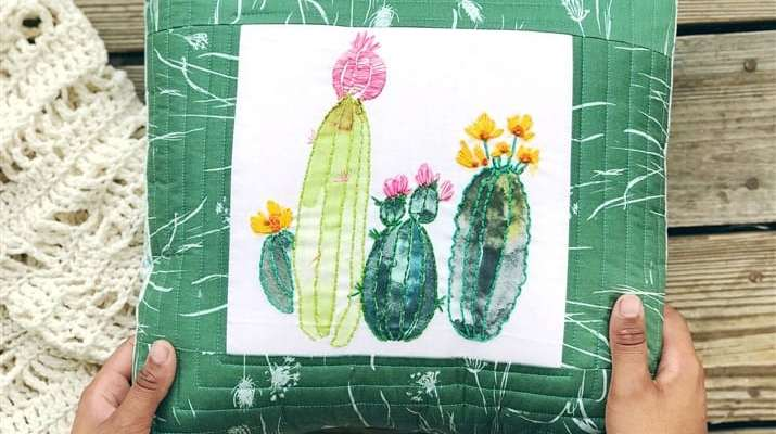 Coats and Clark Embroidery Panels + My Cacti Embroidery Pillow (a tutorial)