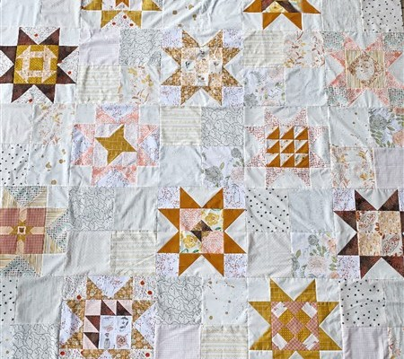 Little Miss Sawtooth Quilt Along – #10 – Finished Quilt Top