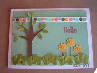 Hello Card ~ Walk in My Garden Cartridge