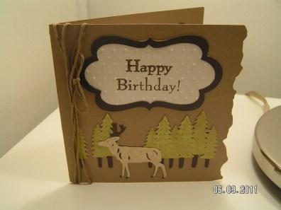 Birthday Card for Dear Hubby - Cricut's Camp Out