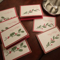 Traditional Christmas Cards - Holly and Wreaths