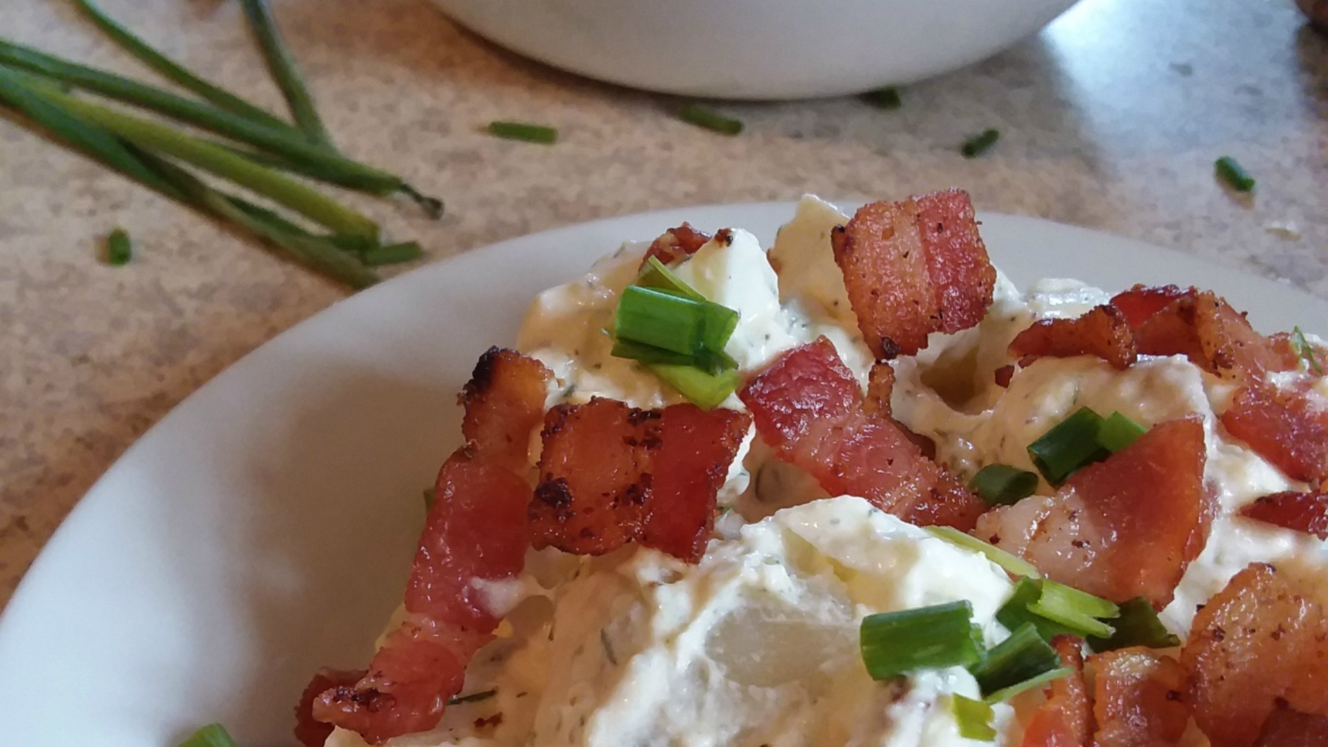 Potato Salad Recipe With Chives And Bacon