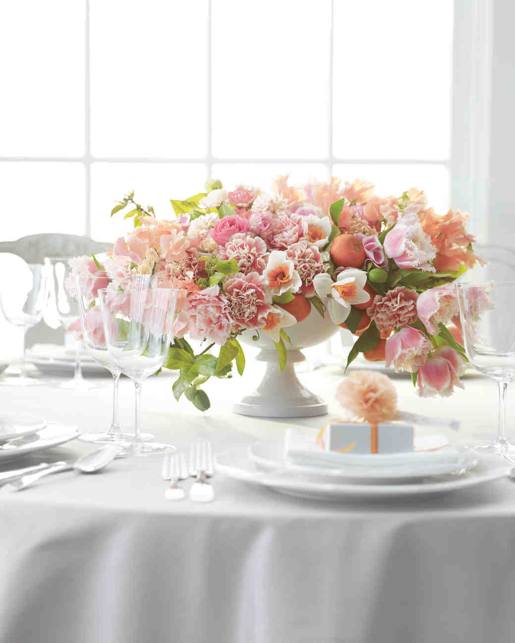 Carnation Wedding Centerpiece