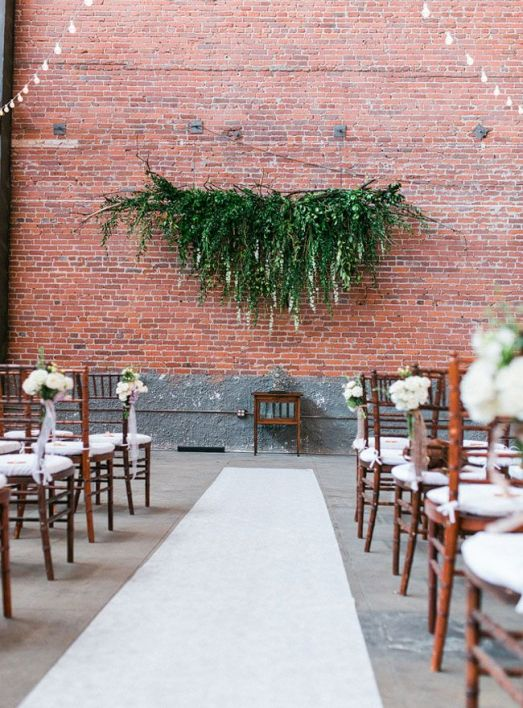 Hanging Foliage Wedding Ceremony Decor