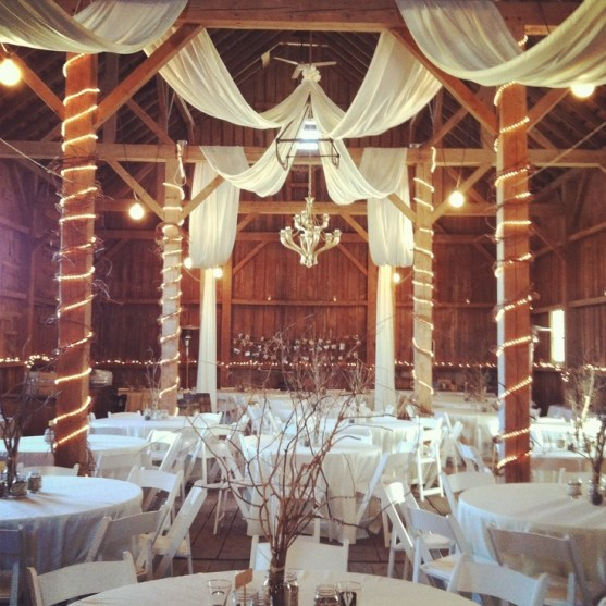 Wedding Drapery Barn Reception