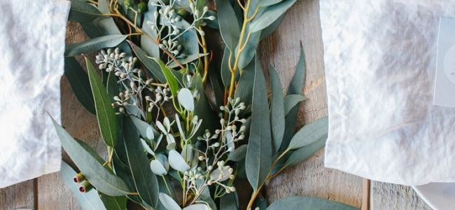Eucalyptus Table Runner - Wedding Florist