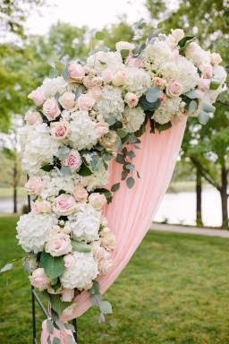 Blush Drapes & Florals