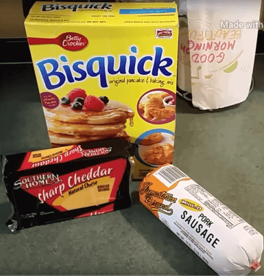 Bisquick Sausage &Cheese Biscuits