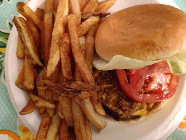 The Southern Food Junkie Burger from the Wheel-In