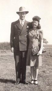 Thomason,-Gladys-&-Clarence-wedding-day