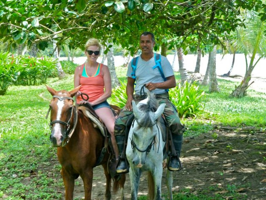 Cindy McCain Horseback Riding in Costa Rica-2