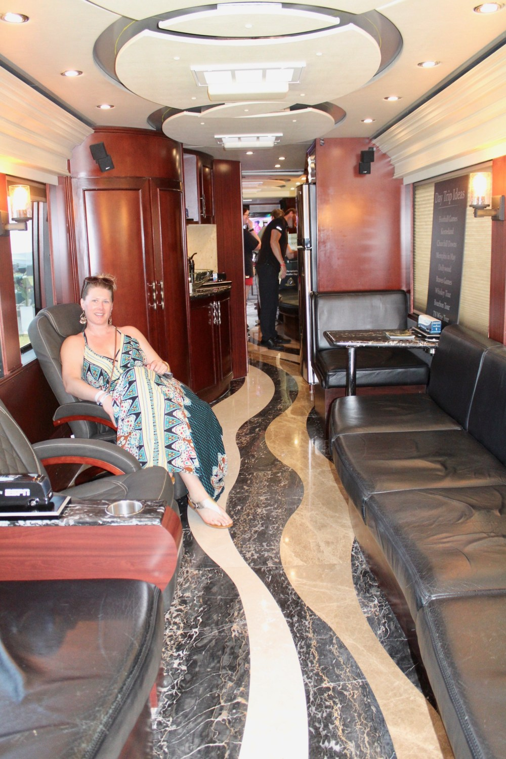 April Richards in Premier Transportation RV at Victory Cup