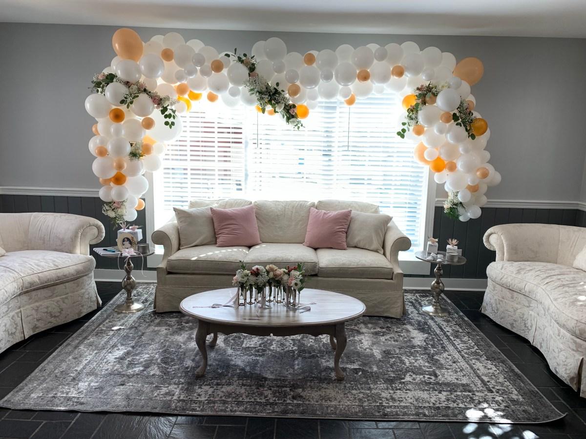 twin girls baby shower swans southern grace florist