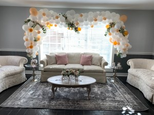 twin girls baby shower swans southern grace florist