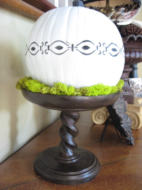 Adventures In Decorating Our 2015 Fall Kitchen: Fall Decorating With White Pumpkins