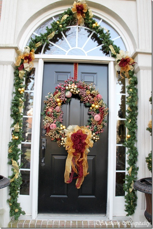 Home Door Christmas Traditional Decorations