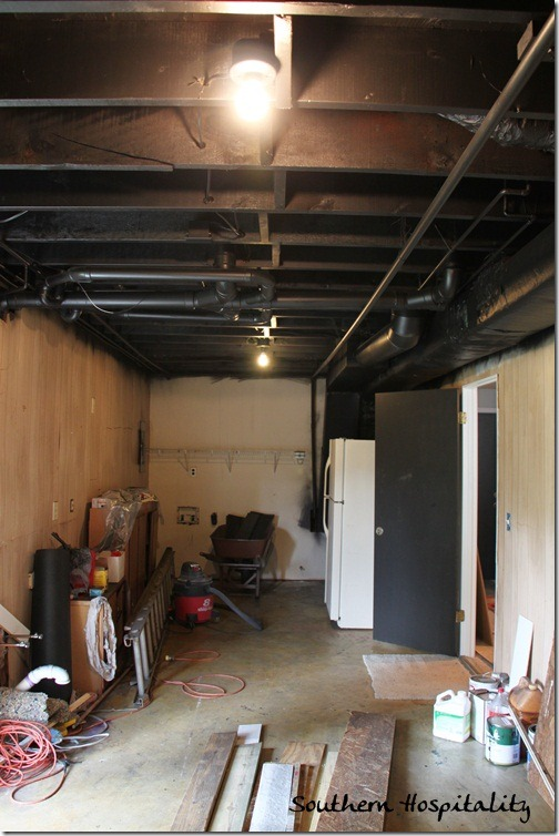 Painting An Industrial Ceiling Black