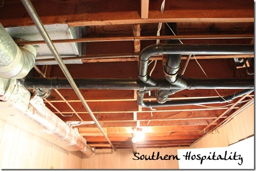 exposed ceiling lighting basement industrial black. Laundryroom Ceiling Before Exposed Lighting Basement Industrial Black U