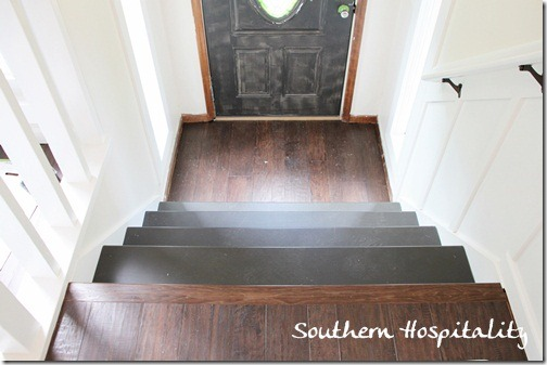foyer stairs installed & painted