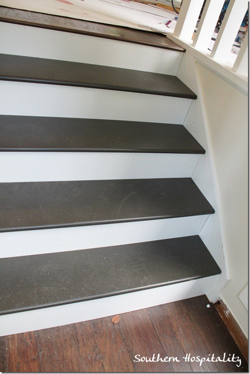 Painting Foyer Stairs : Week how to install new stair treads southern