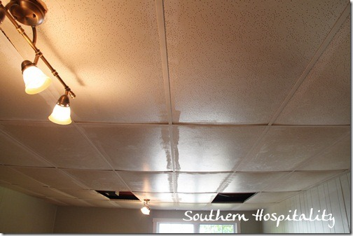 Hereu0027s The Old, Saggy Ceiling Tiles, Which Were Very Yellowed And Just  Plain Disgusting. Iu0027m So Glad I Was Able To Change Them Out, They Feel So  Fresh And ...