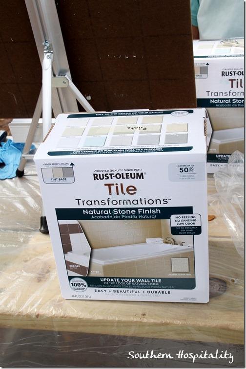 new Rustoleum tile product