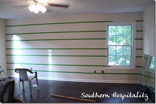 taped walls with Frogtape