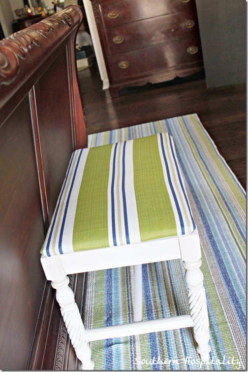 bench by bed